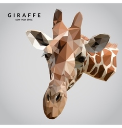 Giraffe Low Poly vector image