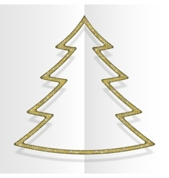 Gold sequins christmas tree winter new year vector
