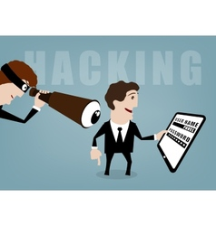 Hacking vector image