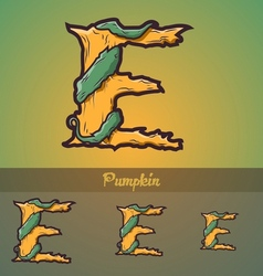 Halloween decorative alphabet - E letter vector image vector image
