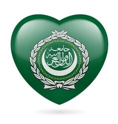 Heart icon of arab league vector