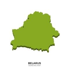 Isometric map of belarus detailed vector