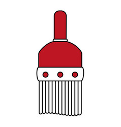 Large paint brush icon image vector