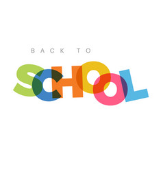 minimalist back to school banner vector image