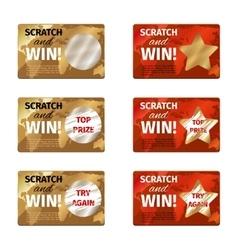 Scratch card design template vector image