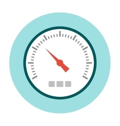 Speedometer icon flat vector image vector image
