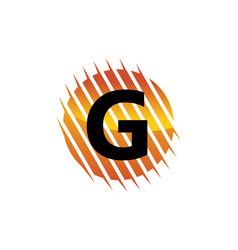 Technology letter g vector