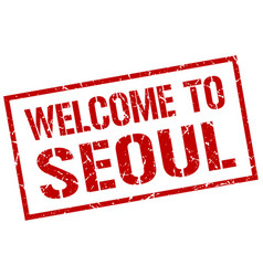 Welcome to seoul stamp vector