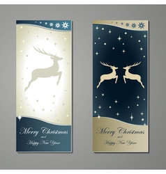 Greeting cards with reindeer vector