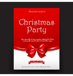 Merry christmas invitation card tag banner vector