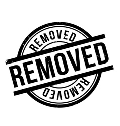Removed rubber stamp vector
