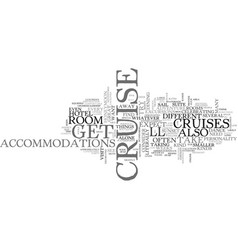 What to expect on a cruise text word cloud concept vector