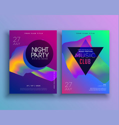 Template for music concept flyer design vector