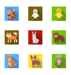 Farm production zoo and other web icon in flat vector