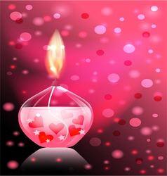 Candle romance vector