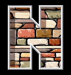 Stone letter n vector