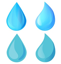 Icons blue water drops vector