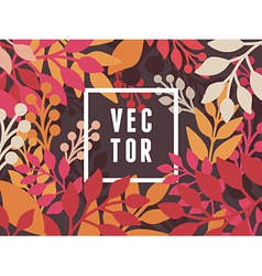 abstract background with leaves vector image