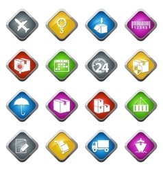 Shipping and delivery icons set vector