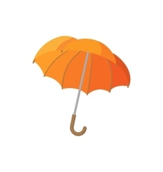 Open orange umbrella icon cartoon style vector