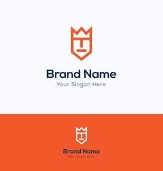 Face man logo vector image