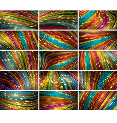 abstract bokeh background set vector image vector image