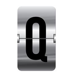 Alphabet silver flipboard letters q vector