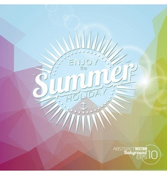 background on a summer holiday theme vector image vector image