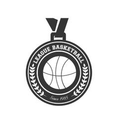 basketball medal winner vector image