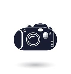 Black and white camera icon vector image vector image