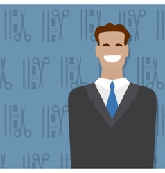 Businessman people occupation vector