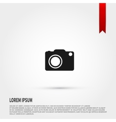 Camera icon Flat design style Template for vector image vector image