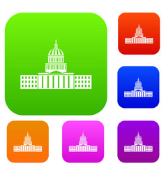 Capitol set collection vector