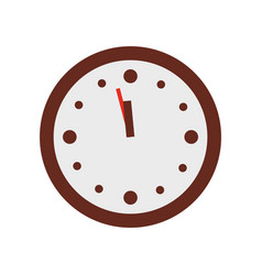 christmas clock show few minutes to twelve vector image vector image
