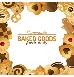 Cookie background vector
