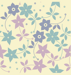 Decorative pattern with stylish flowers vector