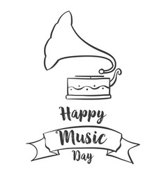 Doodle of music day celebration vector