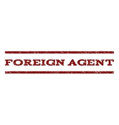 Foreign Agent Watermark Stamp vector image