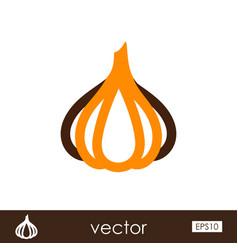 Garlic outline icon vegetable vector