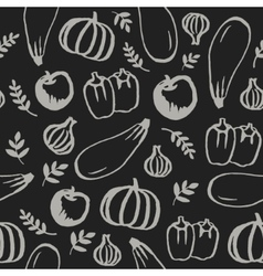 Hand drawn doodle food seamless pattern vector