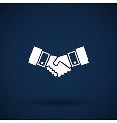 Handshake icon hake meeting business vector image vector image