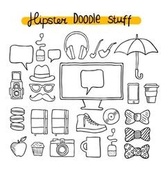 Hipster design doodle elements vector image