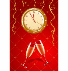 holiday clock vector image vector image