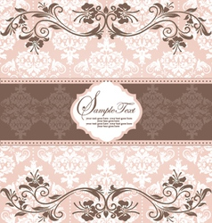 Invitation vintage card with floral elements vector image vector image