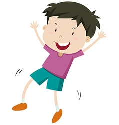 Little boy with happy face vector image vector image