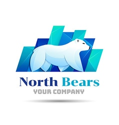 North bear logo design Template for your business vector image