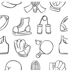 object sport equipment doodles vector image vector image
