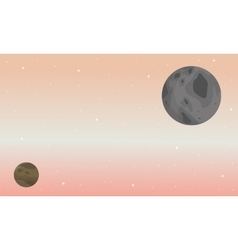 Planet ouster space scenery vector