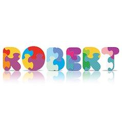 Robert written with alphabet puzzle vector