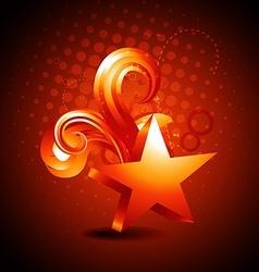 star golden shape background vector image vector image